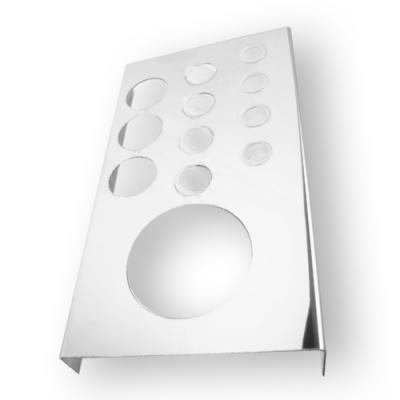 Porta tappini in acciaio con porta bicchieri
