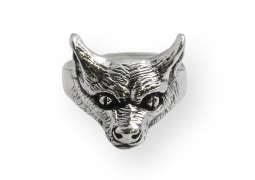 fox silver ring