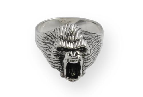 gorilla silver ring