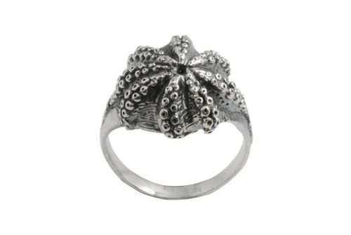 Octopus tenctacles silver ring
