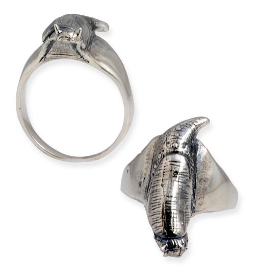 anello in argento con lumaca senza guscio
