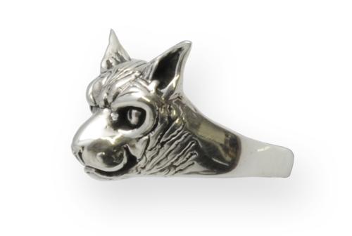 sphynx sterling silver ring