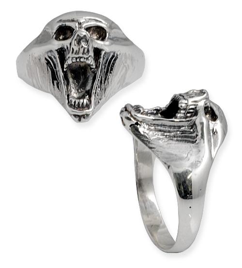 anello con teschio stile ghost