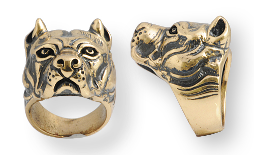 anello in bronzo biker dog